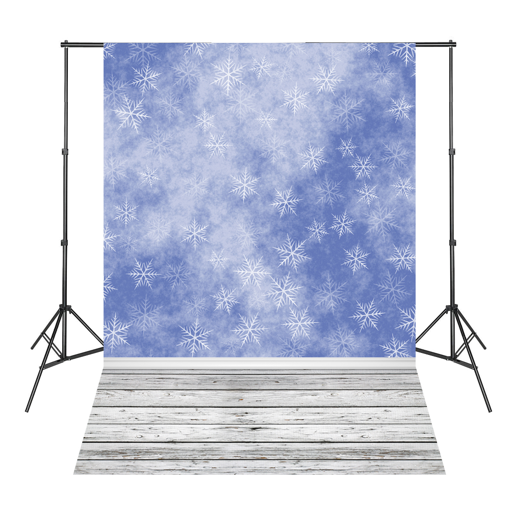 Blue Snowflake White Wood Floor Backdrop Photography Background Vinyl Studio 10ft 20ft romantic wedding backdrop f 894 fabric background idea wood floor digital photography backdrop for picture taking
