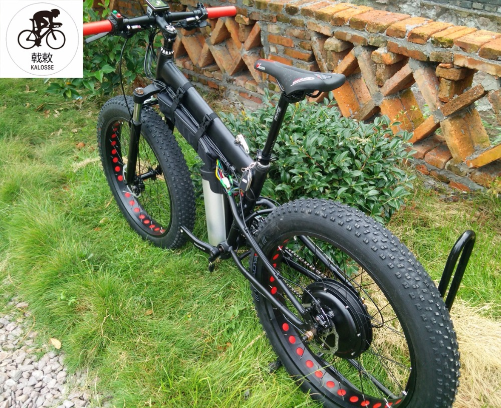 Kalosse E Bike 26*4.0 Tires Electrical Beach Bike 24 Speed M310 48v 1000w Electrical Fat Bike Easy To Use Back To Search Resultssports & Entertainment