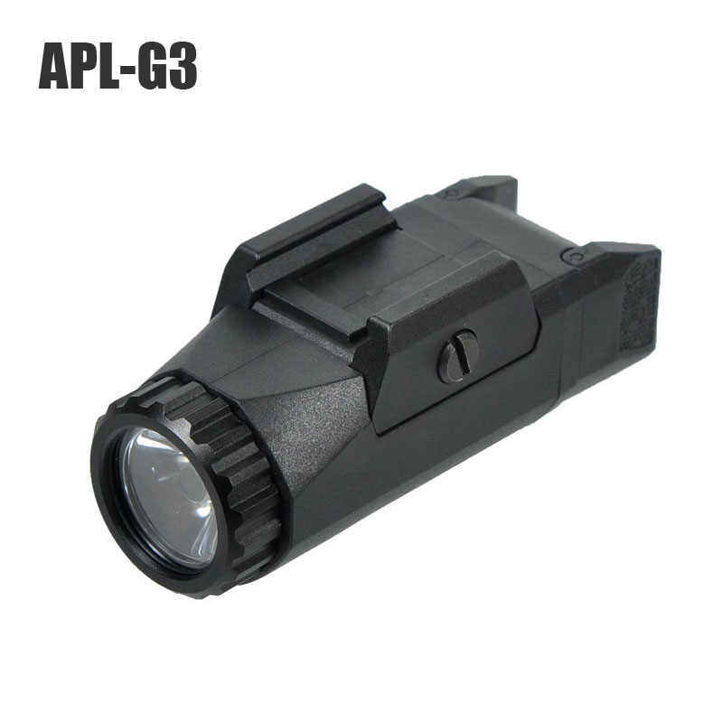 APL G3 400 Lumens Pistol Weapon Tactical Light Constant Momentary Strobe Compact Weapon Picatinny Rail Mounted