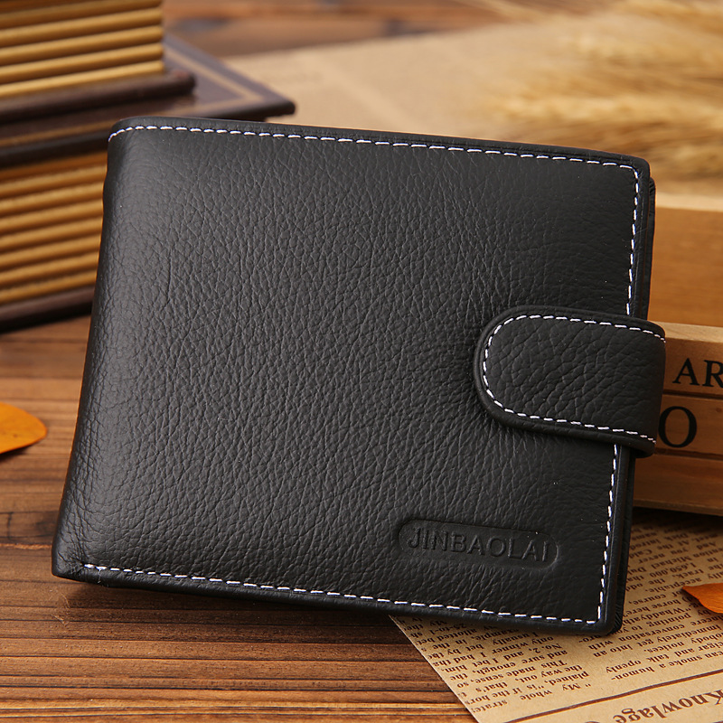 Hot Sale Fashion Men Wallets Brand Quality Genuine Leather Coin Pocket Wallet Black Brown Credit Card Holder Purse Free Shipping