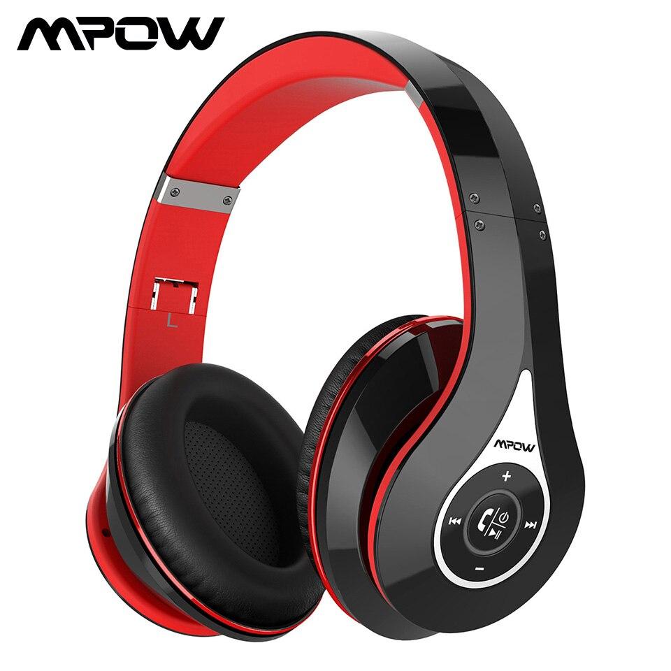 Mpow 059 casque Bluetooth supra-Ear anti-bruit stéréo son bandeau pliable avec sac de transport cache-oreilles souples pour mains libres