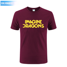 Imagine Dragons Funny Printing T Shirts 2017 Summer Style Men Cotton T-Shirt Plus Size Patchwork Short Sleeve tees Skullies