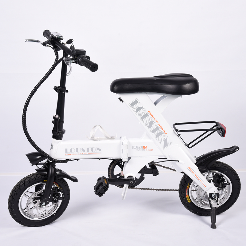 12inch Electric Folding Bicycle Mini Front And Rear Disc