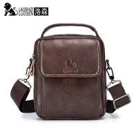 LAOSHIZI LUOSEN Men Retro Leather Handbag Shoulder Bag Business Casual Crossbody Messenger Bags Promotion Crossbody Bag Male