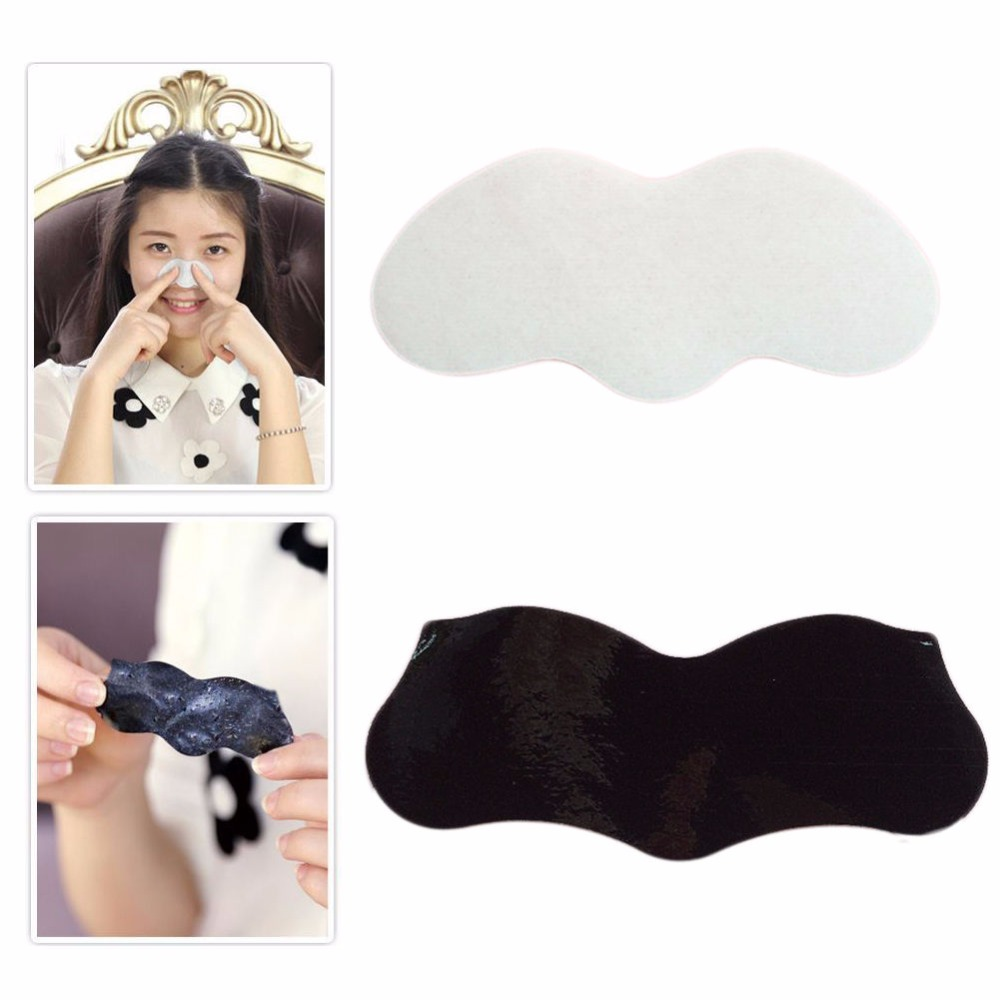 10Pcs Nose Mask Peel Off Nose Sticker Pore Cleansing Strips Blackhead Remover Black White 10pcs remove mineral mud blackhead pore cleansing cleaner removal nose membranes blackhead
