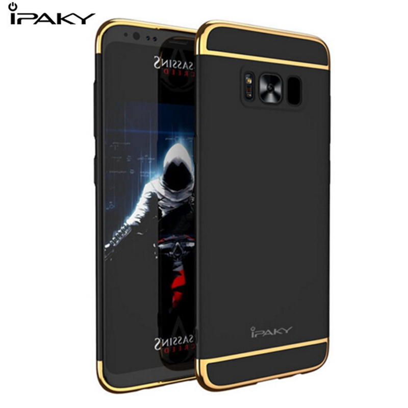 100% Original IPAKY For Samsung Galaxy S7 edge Case Hard PC Electroplating 3 in 1 Back Cover For Samsung Galaxy S8 /S8 Plus Case