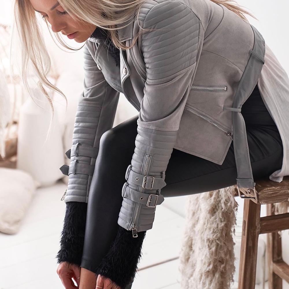 Up Et Blouson Rivet Zipper Manteau Manteaux Mode Rétro Outwear Vestes Nouvelle 2019 Dames Décontracté gris Femmes Noir xWYqTfnwA