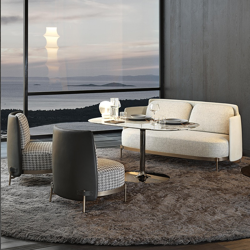 Italy Design Sofa Lounge Chair Set