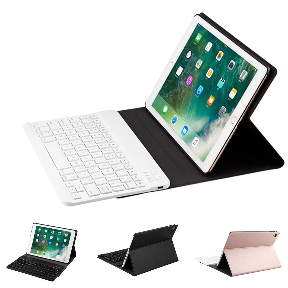 High Quality Ultra thin Detachable Wireless Bluetooth Keyboard Case cover For iPad Mini 1234 Pro 10.5 Air 1 2 New iPad 2017 2018 ultra slim detachable wireless bluetooth keyboard pu leather case cover for ipad air 2 ipad air new ipad 2017 9 7 inch