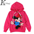2015 Cartoon toddler girl Long sleeve shirt manteau minnie girls hoodies sweatshirt pull minnie fille chidldren hoodies