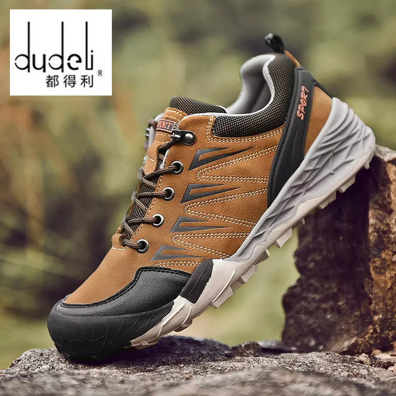 DUDELI Waterproof Breathable Hiking Shoes for men Outdoor Boots Trekking Sport Sneakers Men Waterproof Tourism Shoes