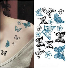Arm Shoulder Tattoo Temporary Tattoo Sticker Sexy Butterfly Colors Makeup Tools Makeup Fashion Waterproof Body Art