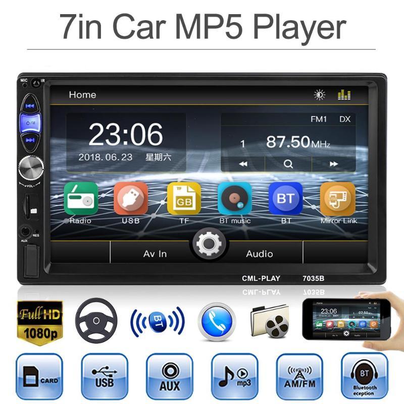 VODOOL 7 pouce 2DIN Au Tableau de Bord De Voiture Bluetooth Stéréo MP5 Lecteur FM Radio MP3 Musique de Recul Dispaly Avec Vue Arrière caméra de recul Kit