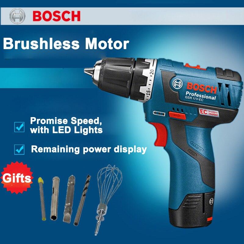 New Upgrade 12V Brushless Rechargeable Drill GSR12V-EC Brushless Lithium Electric Screwdriver 20/18N.m 2.0Ah Single battery гайковерт bosch gsr 18 v ec fc2 06019e1105