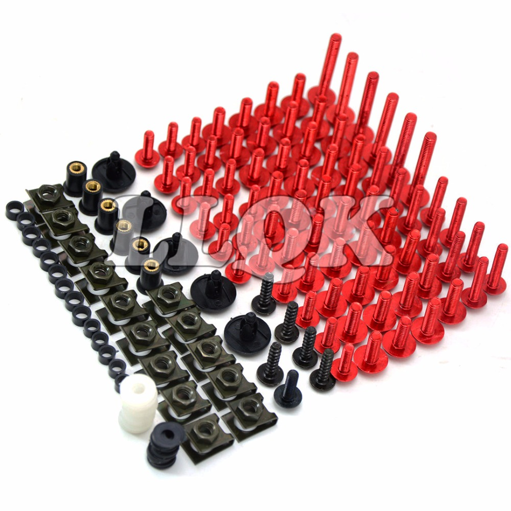 Universal Motorcycle  Fairing body work Bolts Fastener Clips Screws for Yamaha YZF-R25 YZF-R3 2014-2015  bws125 bws 125 universal windshield cnc motorcycle fairing body work fasten bolts screws for yamaha yzf r15 fz8 xsr 900 abs tdm 900 mt125