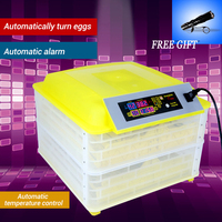 Automatic Egg Incubator China 96 Digital Clear Egg Turning Temperature Control Farm Hatchery Machine chicken egg Hatcher
