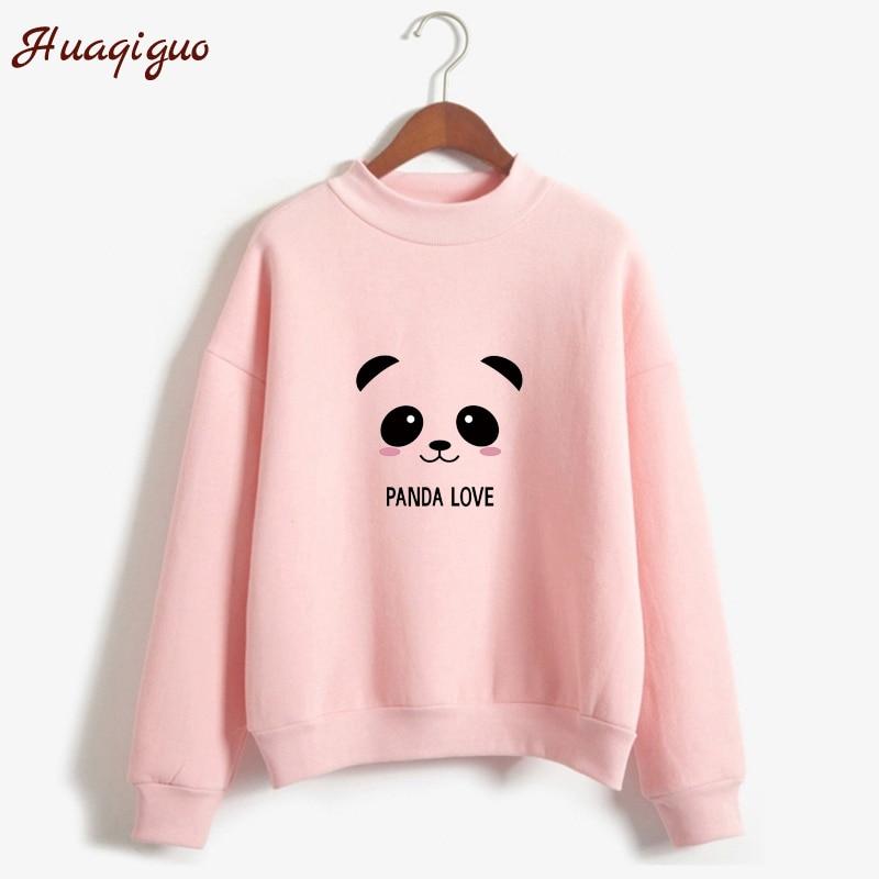 New Hoody Spring Autumn Kpop Clothes Top Long Sleeve Kawaii Panda Printed Harajuku Sweatshirt Women Hoodies Moletom Feminino