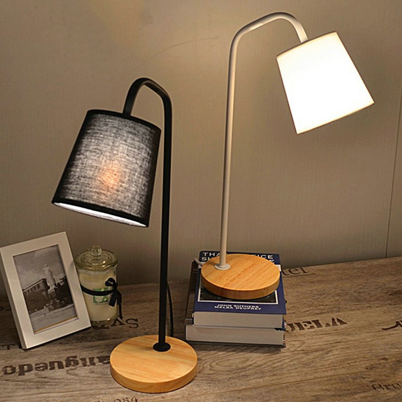 Fabric table lamp modern black white high grade - Black table lamps for living room ...