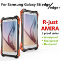 R-Just S6 edge plus Full Body Phone Cover For samsung Galaxy S6 edge S6 edge+ plus Aluminum Carbon fiber Metal Case cover