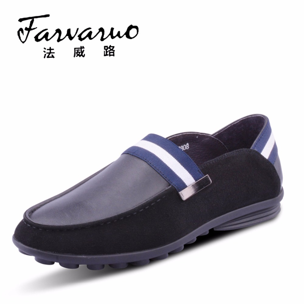 Black Casual Suede Loafers Mens Genuine Leather Fashion Driving Shoes Size 2017 Men Flats Slip On Loafer Luxury Brand Dress Shoe
