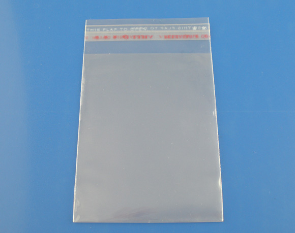 DoreenBeads 60PCs Clear Self Adhesive Seal Plastic Bags(Usable Space 8x7cm) 7x10cm 2015 New