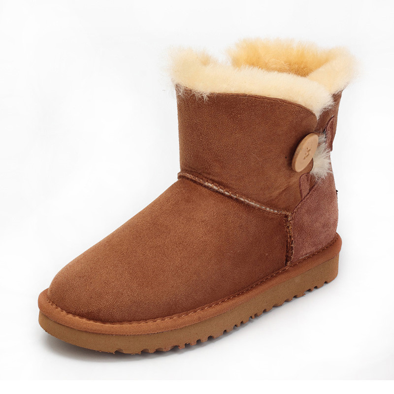 ФОТО 2017 new arrive 100% Genuine fur Natural Sheepskin Snow Boots Winter Women Boots Plus size Warm Waterproof Ankle Boots 12 colors