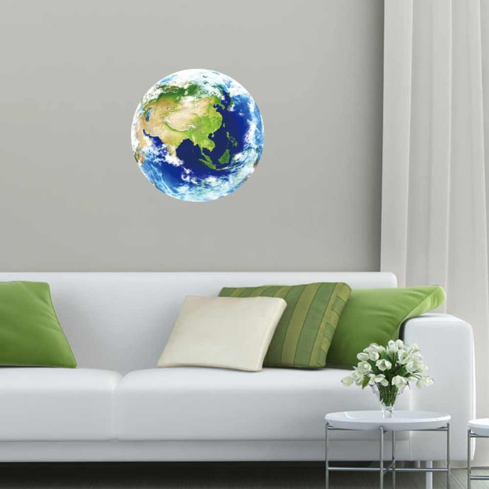 مضيئة الأزرق الأرض الكرتون DIY 3d ملصقات جدار للأطفال غرف نوم غرفة ديكور الوهج في الظلام نجوم ديكور المنزل غرفة المعيشة