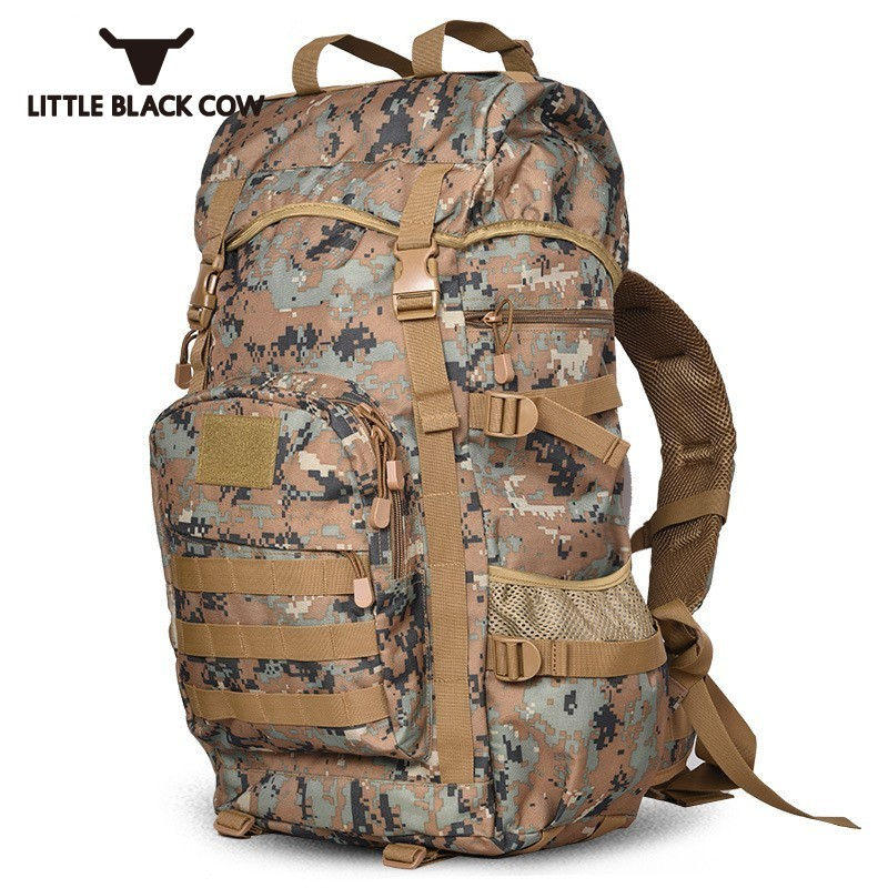 Top Quality 50L Capacity Backpack Military 3P Waterproof Bag Harajuku Camo Printed Mochila Army MOLLE School Backpack Laptop Bag 2017 hot sale men 50l military army bag men backpack high quality waterproof nylon laptop backpacks camouflage bags freeshipping