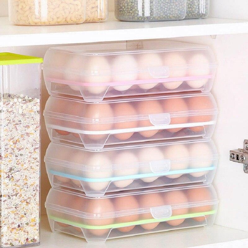 3 шт. коробка для хранения яиц лотки контейнеры для яиц кухонный холодильник 15 решеток яиц пластиковый диспенсер герметичная свежая консервация|Ящики и баки для хранения|   | АлиЭкспресс