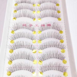 Image 1 - 10 Pairs New False Eyelashes Handmade Black Long Thick Natural Fake Eye Lashes Extension Women Makeup Beauty Tools