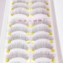 10 par nowe sztuczne rzęsy ręcznie czarne długie grube naturalne sztuczne rzęsy przedłużka kobiety makijaż przybory kosmetyczne