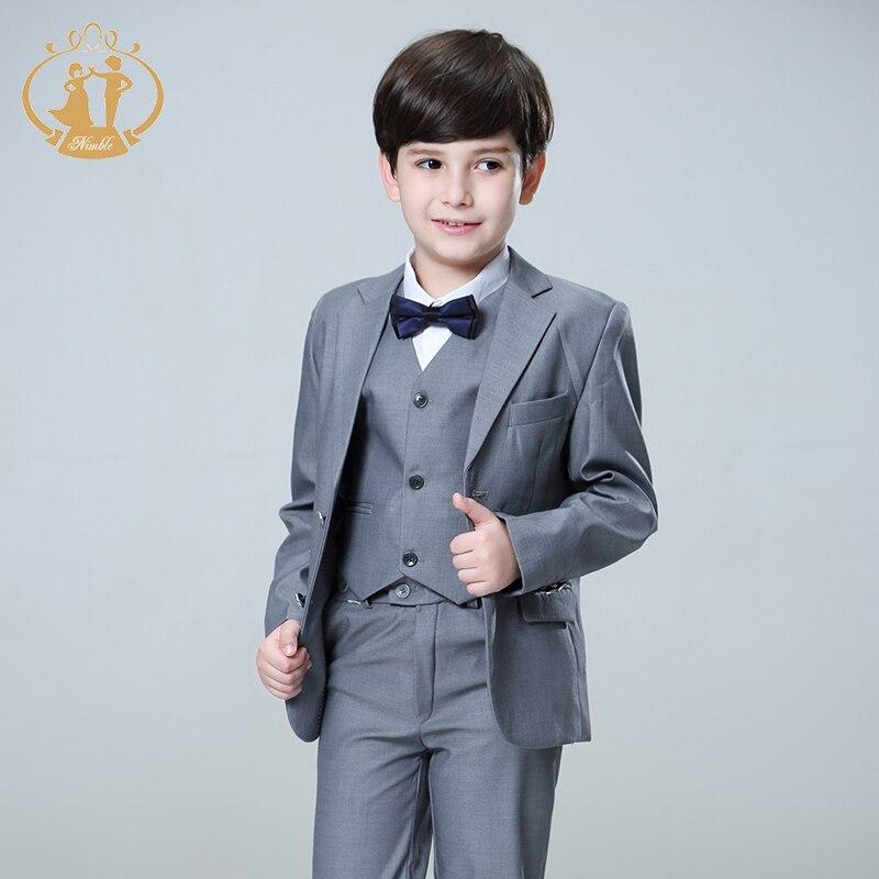 ed619c768 Traje Nimble para niño Terno Infantil niños trajes para bodas Disfraz  Enfant Garcon Mariage Disfraz Infantil Niño trajes formales 2018