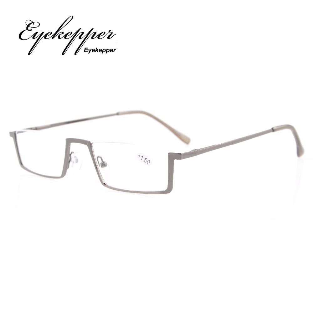 7bbbb42924738 Eyekepper R1613 Qualidade Primavera Dobradiças Half-Rim Óculos de Leitura  Das Mulheres Dos Homens + 0.50 --- + 4.00