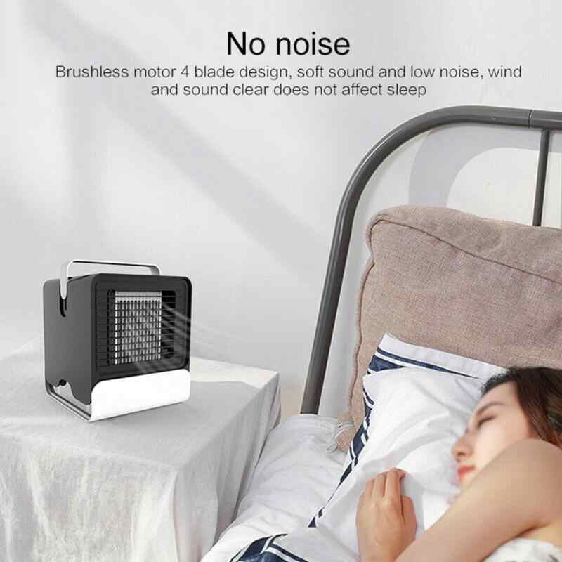 Wiederaufladbare Tragbare Klimaanlage Desktop Geräuscharm Klimaanlage USB Mini Luftkühler Handheld Luftkühlung Fan Für home office