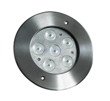 High Quality 316 stainless steel 24V 18W underwater RGB Led Light Multicolor Recessed Pool Lamp LED Pond Light 4pcs/lot