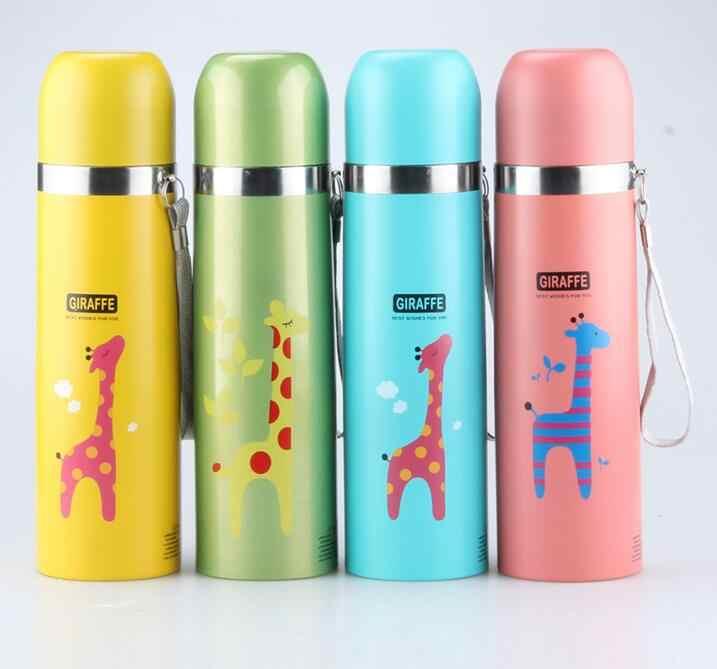 350/500 мл разноцветные Мультяшные животные дизайн термос термо чашка с Кофе кружка для воды для занятий спортом термос Garrafa Termica