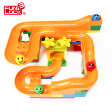 Funlock Duplo 33 pcs Marble Run Funny Plastic Slide Toys Blocks Creative Building Set Educational Gift