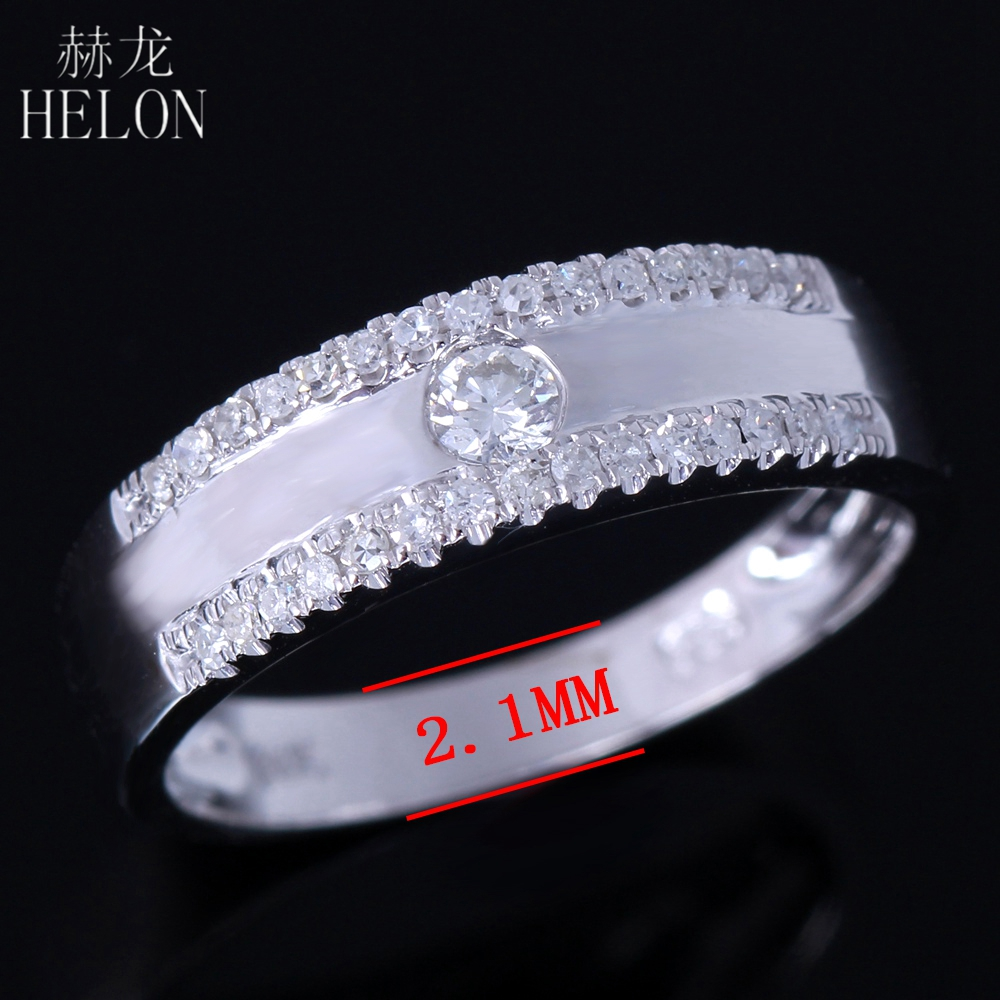HELON 925 Sterling Silver 100% Genuine AAA Graded Cubic Zirconia Band Enagement Wedding Anniversary Women Trendy Jewelry RingHELON 925 Sterling Silver 100% Genuine AAA Graded Cubic Zirconia Band Enagement Wedding Anniversary Women Trendy Jewelry Ring