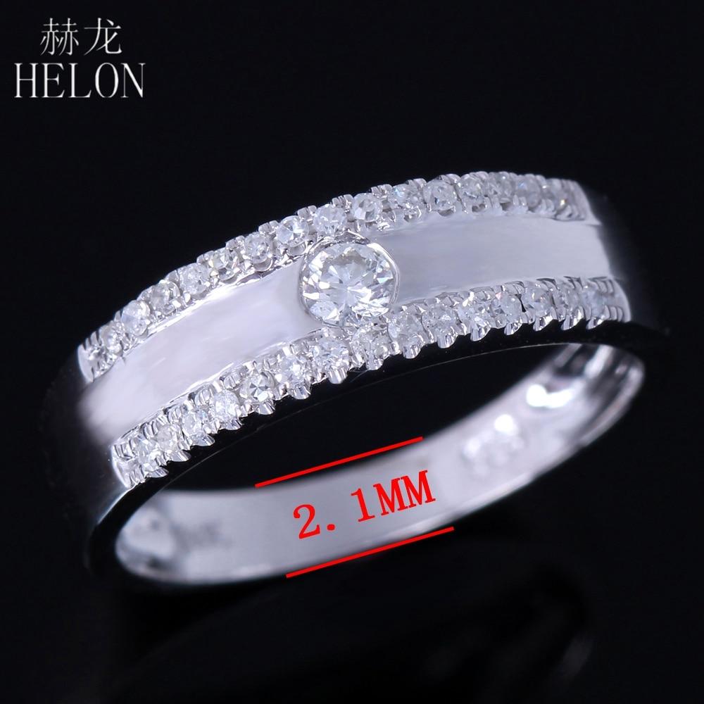 HELON 925 Sterling Silver 100% Genuine AAA Graded Cubic Zirconia Band Enagement Wedding Anniversary Women Trendy Jewelry Ring skinbox чехол lg v10 skinbox lux