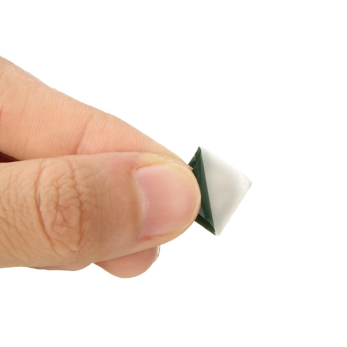 100Pcs Cuadrado montajes de base Auto Adhesivo Cable Tie bases pegajoso Socket