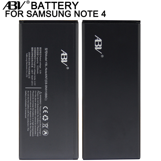 ABV brand Replacement Battery EB-BN910BBE EB-BN910BBC for Samsung GALAXY note4 NOTE 4 SM-N9100 N9109W battery