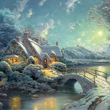 5D diy diamond painting cross stitch winter landscape square drill full rhinestone  embroidery icon home decor diapai 100% full square round drill 5d diy diamond painting flower landscape diamond embroidery cross stitch 3d decor a21095