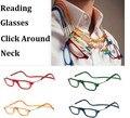 Pares de Mistura de Moda de Nova Óculos De Leitura Magnética Clique Pendurar Em Torno de Nunca Perder novamente + 1.0 + 1.5 + 2.0 + 2.5 + 3.0 + 3.5 + 4.0