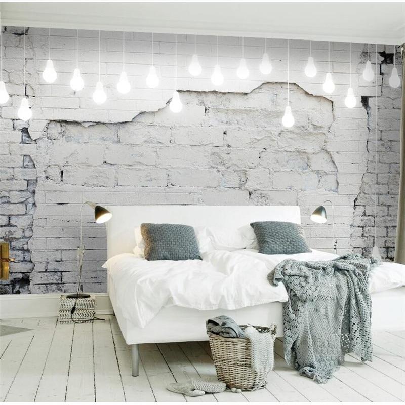 Wellyu Custom Wallpaper Large Mural 3d Photo Wallpaper Обои Nordic Vintage Brick Wall Sofa Background Wallpaper Papel De Parede