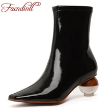 FACNDINLL high qulaity 2019 new fashion autumn winter ankle boots for women sexy high heels zipper shoes woman dress party boots facndinll women boots new fashion autumn winter square high heels pointed toe zipper shoes woman dress party riding ankle boots