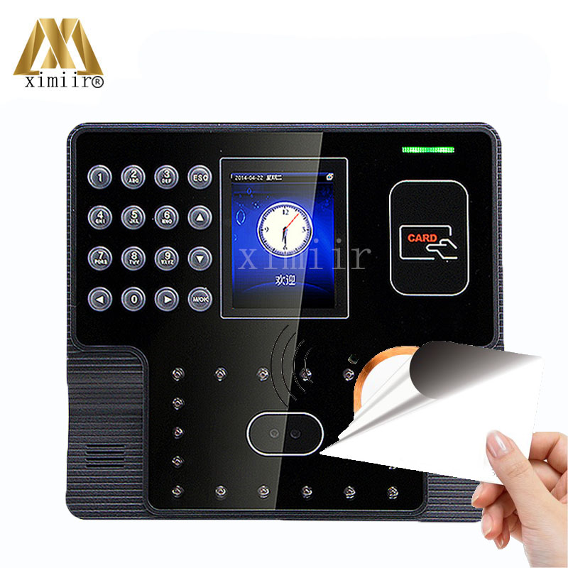 Facial Time Attendance And Access Control With MF IC Card Reader ZK Iface101 Touch Screen 200 Users Face Time And Attendance