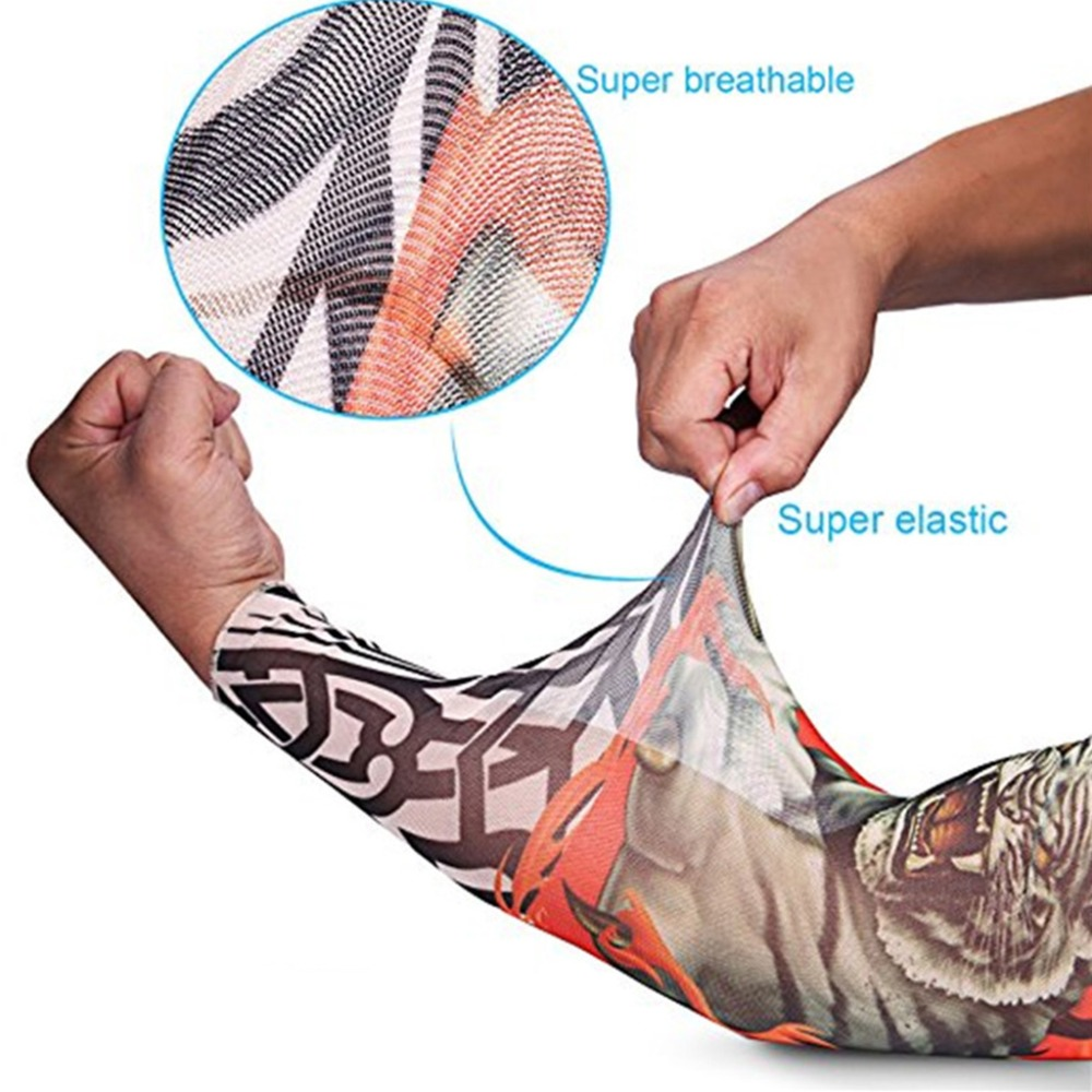 Responsible 5pc Tattoo Glove Sleeve Arm Warmer Tribal Print Sleeve Men Women Skull Fake Tattoo Sleeves Arm Protection To Rank First Among Similar Products Men's Arm Warmers