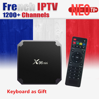 French IPTV X96 Mini 4k Android 7 1 TV Box With 1200 NEO Tv IPTV QHDTV