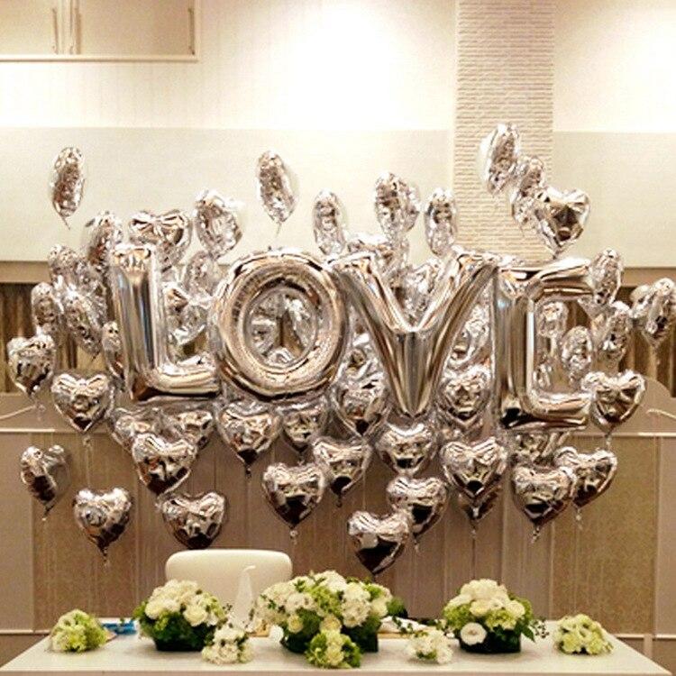 Фольгированные шары на свадьбу