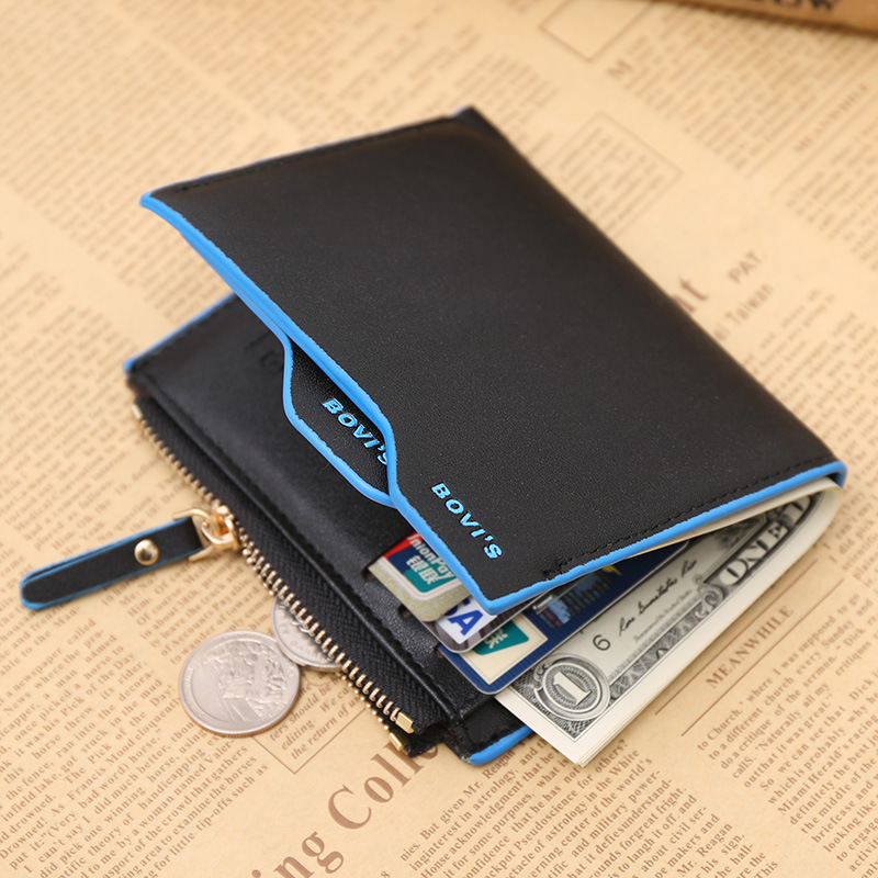 e6638d735684 Top Men Wallet Short Design Male Purse Card Holder Brand PU Leather Wallets  Zipper Pocket Slim Purse Bifold Carteira masculina-in Wallets from Luggage  ...